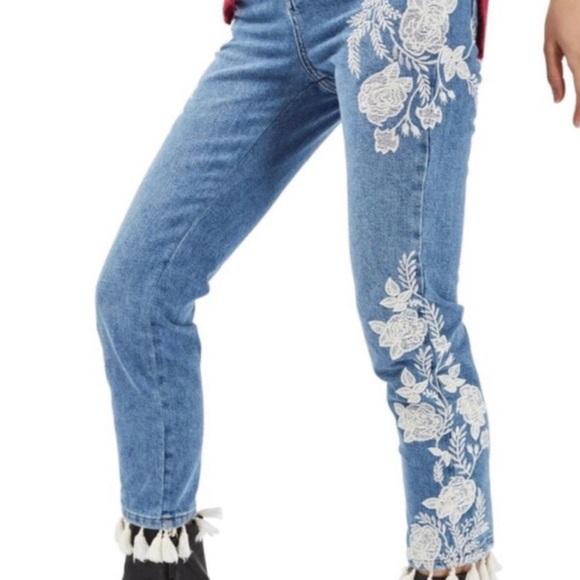 Topshop Pants - Topshop Moto Womens Straight Leg Jeans Size 30